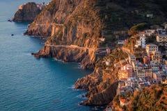 Via dell`amore, Cinque Terre, Italy Royalty Free Stock Image