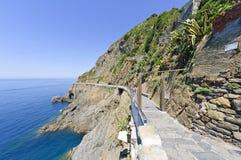 Via dell'Amore in Riomaggiore, Italië Stock Afbeelding