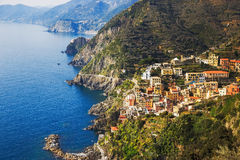 Via dell Amore, The Way of Love, aerial view. Cinque Terre, Ligu Stock Images