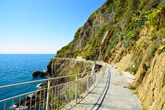Via dell Amore, The Way of Love, pedestrian street. Cinque Terre Stock Photography