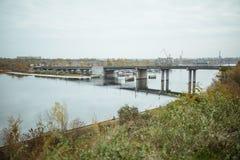 via dell'argine, città Mykolaiv Ucraina fotografie stock