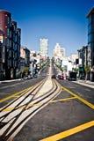 Via della California a San Francisco Immagini Stock