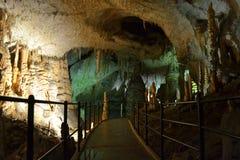 Via della caverna di Postumia fotografie stock libere da diritti