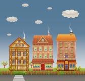 Via della città illustrazione di stock