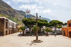Via della città di Garachico sull'isola di Tenerife, canarino, Spagna immagine stock libera da diritti