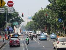 Via della città di Jakarta fotografie stock libere da diritti