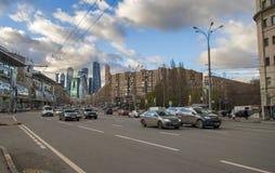 Via della città di Mosca Fotografia Stock Libera da Diritti