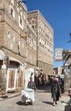 Via della città di sanaa nel Yemen Fotografia Stock