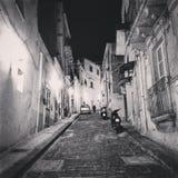 Via della città siciliana fotografia stock
