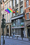 Via della città di Bruxelles Immagine Stock Libera da Diritti