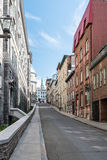 Via della città a Québec Fotografia Stock