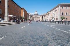 Via della Concilazione in Rome Royalty-vrije Stock Afbeelding