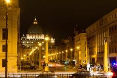 Via della Conciliazione and St. Peter's Basilica Royalty Free Stock Photography