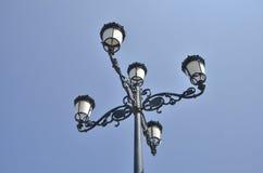 Via della lampada del ferro Immagine Stock