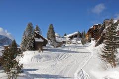 Via della neve Immagine Stock