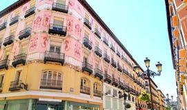 Via della Spagna Alfonso I della città di Zaragoza Immagine Stock
