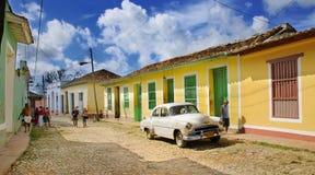 Via della Trinidad, Cuba. OTTOBRE 2008 Fotografia Stock Libera da Diritti
