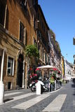 Via Della Vite is a busy and fashionable street of Rome Stock Photos