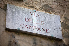 Via delle Campane in Siena Stock Photography