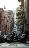 Via delle Quattro Fontane in the late afternoon.  Rome Stock Images