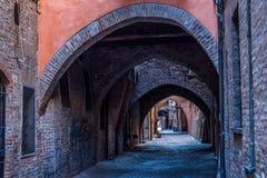 Via delle Volte di Ferrara L'Emilia Romagna L'Italia Fotografie Stock