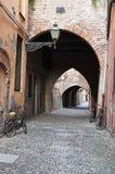 Via delle volte. Ferrara. L'Emilia Romagna. L'Italia. Fotografie Stock Libere da Diritti