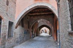 Via delle Volte. Ferrara. L'Emilia Romagna. L'Italia. Immagine Stock Libera da Diritti