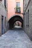 Via delle volte. Ferrara. L'Emilia Romagna. L'Italia. Immagini Stock Libere da Diritti