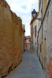 Via dello stretto della Spagna Segovia immagine stock libera da diritti