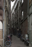 Via dello stretto di Amsterdam Immagine Stock Libera da Diritti