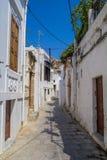 Via dello stretto di Lindos a Rhodes Island Greece immagine stock