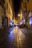 Via den deiPastini gatan i Rome Arkivbild