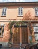 Via det Paolo Fabbri 43 Guccini huset i bolognaen Arkivbild