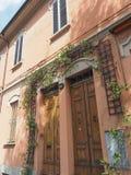 Via det Paolo Fabbri 43 Guccini huset i bolognaen Arkivfoton