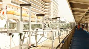 Via di accesso principale di imbarco per gli incrociatori Fotografia Stock Libera da Diritti