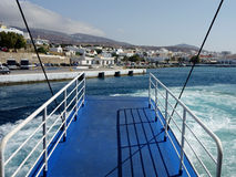 Via di accesso principale di passeggero, traghetto greco Immagine Stock
