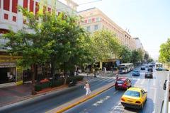 Via di Atene, Grecia Fotografie Stock Libere da Diritti
