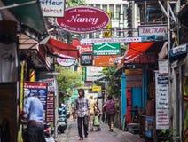 Via di Bangkok Fotografia Stock Libera da Diritti