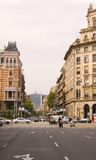 Via di Barcellona Immagini Stock Libere da Diritti