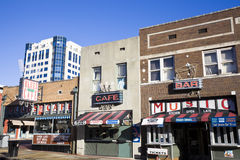 Via di Beale a Memphis fotografie stock