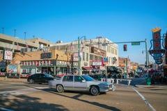 Via di Beale a Memphis fotografia stock