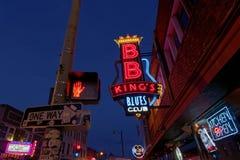 Via di Beale a Memphis, Tennessee fotografie stock libere da diritti
