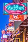 Via di Beale, Memphis, Tennessee, U.S.A. immagine stock libera da diritti