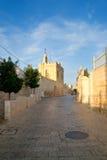 Via di Bethlehem. Il Palestine, Israele. Fotografia Stock