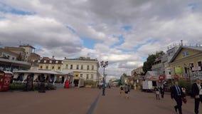 Via di Bolshaya Pokrovskaya in Nizhny Novgood stock footage