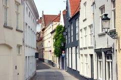 Via di Bruges nel Belgio fotografia stock libera da diritti