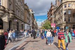 Via di Buchanon al posto Glasgow di Royal Bank, occupata con i clienti immagini stock