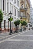Via di Budapest Fotografie Stock