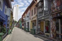 Via di camminata famosa a Singapore fotografia stock