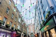 Via di Carnaby a Londra, Regno Unito Fotografia Stock Libera da Diritti
